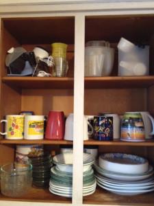 Newly Organized Dish Cabinet