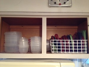 Newly Organized Tupperware Cabinet